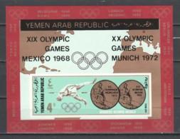 Yemen YAR 1968 Mi Block 78 MNH SUMMER OLYMPICS MEXICO & MUNCHEN - ATLETICS - Ete 1968: Mexico