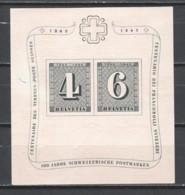 Switzerland 1943 Mi Block 8 MNH STAMP ON STAMP (*) - Blocks & Sheetlets & Panes
