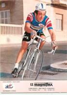 Mauro VANNUCCHI  . 2 Scans . Cyclisme. Magniflex 1975 - Wielrennen