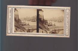 PS- Photo Stéréo / Paris Circa1870 / Richebourg Photogrape (1810/1875) / Vue En Aval Du Pont Neuf,la Seine - Fotos Estereoscópicas