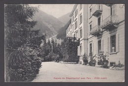 CPA  Suisse,  DISENTIS, Facade Du  Disentiserhof Avec Parc ( Cote Ouest ) 1909 - GR Grisons