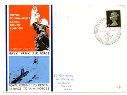 Navy Army Air Force Illustrated Letter Cover With Special Potmark 1968 200401 - Briefe U. Dokumente