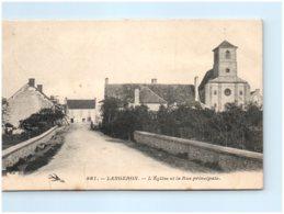 58 LANGERON - L'église Et La Rue Principale - Otros Municipios