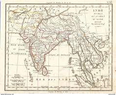 CARTE ANNÉE 1828 INDE FLEUVE GANGE - CARD YEAR 1828 INDIA RIVER GANGE - RÍO GANGE - - Cartes Géographiques