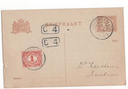 Oosterend GGrootrond Texel - 1908 Geuzendam - Marcophilie
