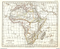 CARTE ANNÉE 1828 AFRIQUE - MAP YEAR 1828 AFRICA - KARTE JAHR 1828 AFRIKA - MAPA AÑO 1828 ÁFRICA - MAPPA ANNO 1828 AFRICA - Cartes Géographiques