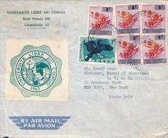 BELGIAN CONGO KINSHASA 1964 ISSUE COVER FROM LEO TO USA - República Del Congo (1960-64)