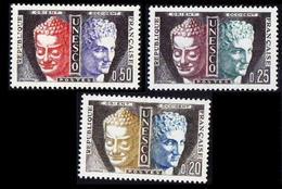 France 1961 3v, First UNESCO Issue Buddha & Hermes God Of Shepherds, - Budismo