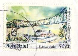 00  Pont Transbordeur Rendsburg: Timbre De Entreprise Postale Privé. Allemagne - Transponder Bridge NordBrief Privatpost - Ponts