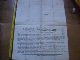 1807 Affiche Vente Volontaire IMMEUBLES Vilards Flagy Cluny DROGNIET DUMOLIN GERVAIS 8 - Affiches