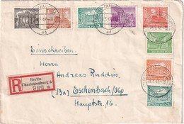 BERLIN  1949 LETTRE RECOMMANDEE AVEC CACHET ARRIVEE ESCHENBACH - Cartas