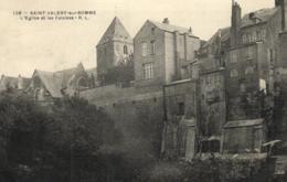 80 - Somme - Saint-Valery-sur-Somme - L'Eglise Et Les Falaises - D 7523 - Saint Valery Sur Somme