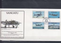 Vanuatu Michel Cat.No. FDC 914/917 + Sheet 20 WWII - Vanuatu (1980-...)