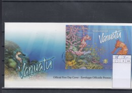 Vanuatu Michel Cat.No. FDC Sheet 48 Sea Horse - Vanuatu (1980-...)