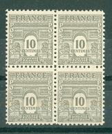 FRANCE - ARC DE TRIOMPHE N° N° 621** MNH LUXE BLOC DE QUATRE - 1944-45 Arc De Triomphe