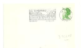 HERAULT - Dépt N° 34 = GIGNAC 1985 =  FLAMME Type II = SECAP Illustrée  ' MOYENNE VALLEE ' - Marcophilie (Lettres)