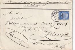 ALLEMAGNE LETTRE DE VILLACH POUR ZURICH - Covers & Documents