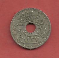 10 Centimes , TUNISIE , Nickel-Bronze , 1919 , N° KM # 243 - Colonies