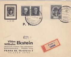 LETTRE. TCHECOSLOVAQUIE. 23 9 37. RECOMMANDÉ PRAHA          / 2 - Czechoslovakia