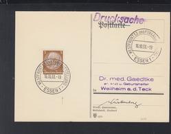 Dt. Reich PK 1933 Sonderstempel Essen Westfront 33 Und Funkausstellung - Briefe U. Dokumente