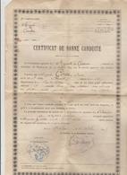 LOT 7032045 DIPLOME MILITAIRE CERTIFICAT DE BONNE CONDUITE DU 10° REGIMENT DE CHASSEURS A MOULINS ALLIER LE 12/10/1907 - Diploma & School Reports