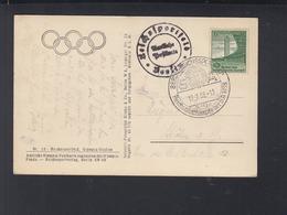 Dt. Reich AK Reichssportfeld 1938 Sonderstempel Wettkämpfe Der SA - Briefe U. Dokumente
