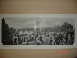 Lamina-Paris-1900--1,2,3,Le Bassin De Latone--Bosquet Des Bains D'Apollon--Chambre De Louis XIV - Ancianas (antes De 1900)