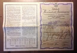 Istituto Nazionale Delle Assicurazioni.4.Ottobre.1940. Polizza . - Fiscaux