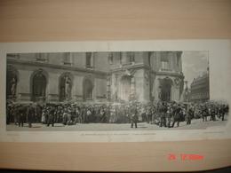 Lamina-Paris-1900--1,2,3,Les Espectacles Gratuits De La Fete Nationale--En Attendant L'Omnibus - Ancianas (antes De 1900)