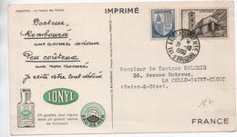 1950 - CARTE IMPRIME PUBLICITAIRE PUB SANTE De ANDORRE LA VIEILLE - Lettres & Documents