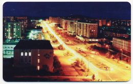 RUSSIA - RUSSIE - RUSSLAND DUMMY PHONECARD TELECARTE YAKUTIA SAKHA TELECOM 10 UNITS TOWN VIEW BY NIGHT - Russia