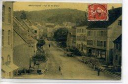 90 BEAUCOURT Bel Aspect Couleur Toilé Rue De St Dizier Charettes  Attelages Transport 1909 Timb D10 2017 - Beaucourt