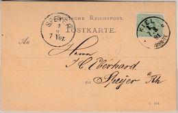 DR - 3 Pfg. Drucksachenkarte Fisch-Werbung, Kiel - Speyer 1881 - Allemagne