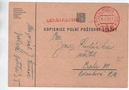 1938 - CARTE DOPISNICE POLNI POSTOVNI SLUZBY - Czechoslovakia