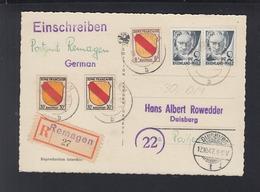 Alliierte Besetzung R-AK 1947 Remagen Nach Duisburg - Französische Zone