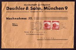 DR Brief MÜNCHEN 9 - Freising - 30.8.35 - Mi.581 Von Abzeichenfabrik - Deutschland