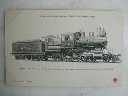 FERROVIAIRE - Locomotive - Coll. F. Fleury - USA - Machine Compound Des Chemins De Fer De L'Erie - Service Voyageurs - Trains