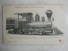 FERROVIAIRE - Locomotive - Coll. F. Fleury - USA - Machine Tender Du Sud De La Caroline Aménagée Pour Chauffage Au Bois - Trains