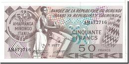 BILLET BURUNDI 50 FANCS - 1979 - Burundi