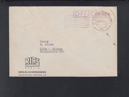 Berlin Rias Brief 1949 Nach Köln - Berlin (West)