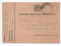1936 - CARTE DOPISNICE POLNI POSTOVNI SLUZBY - Czechoslovakia