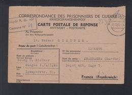 Kriegsgefangenensendung 1945 Wangen Allgäu Nach Depot 401 Champagne Frankreich France - Bizone