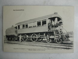 FERROVIAIRE - Locomotive - Coll. F. Fleury - USA - Machine à Voyageurs Faisant Le Service N.Y. à San Francisco - Unique - Trains