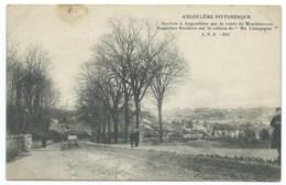 CPA ANGOULEME PAR ROUTE DE MONTMOREAU POUR PARIS / 1914 / CACHET COMPAGNIE RADIOTELEGRAPHIQUE 8° REGIMENT DU GENIE WW1 - Angouleme