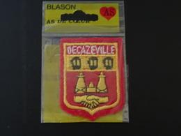 Blason écusson Tissu Feutrine Decazeville (Aveyron) Wappen Coat Of Arms - Ecussons Tissu