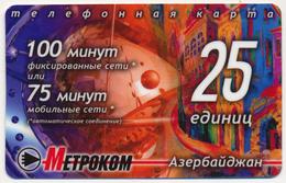 RUSSIA - RUSSIE - RUSSLAND METROCOM 25 UNITS DUMMY PRE-PAID PHONECARD TELECARTE AZERBAIJAN PERFECT - Russia