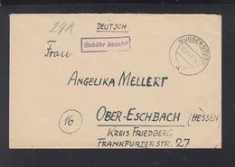 Alliierte Besetzung Brief 1947 Gebühr Bezahlt Muggensturm - Französische Zone
