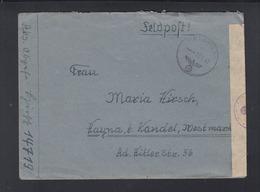Dt. Reich Feldpostbrief 1943 FP 14719 Kubanbrückenkopf Mit Inhalt - Briefe U. Dokumente