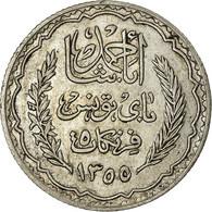 Monnaie, Tunisie, Ahmad Pasha Bey, 5 Francs, 1936, Paris, SUP, Argent, KM:261 - Tunisie
