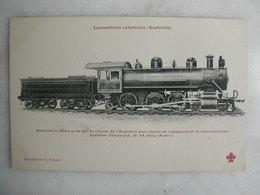 FERROVIAIRE - Locomotive - Coll. F. Fleury - AUSTRALIE - Machine Compound Du Ch. De Fer De L'Ouest - Voyageurs Et Mses - Trains